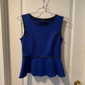 Tops - Peplum top with leather detailing hardly worn!